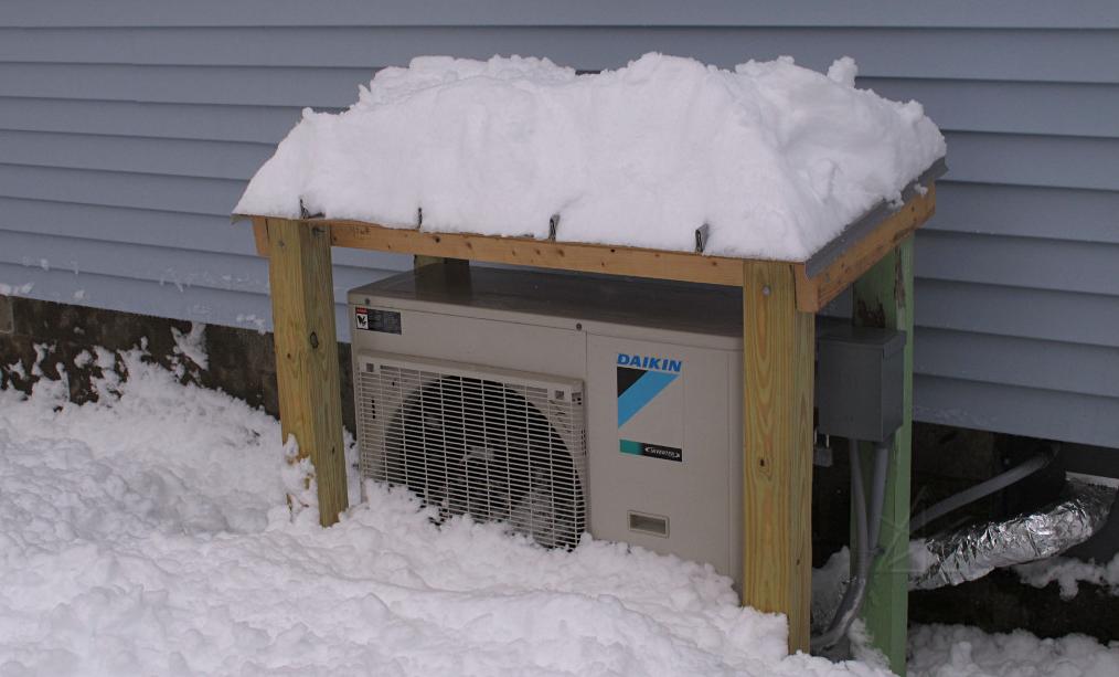 Daikin Altherma minisplit a sníh